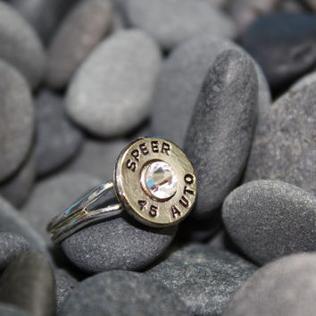Bullet jewelry, bullet ring, 45 caliber bullet ring, redneck jewelry