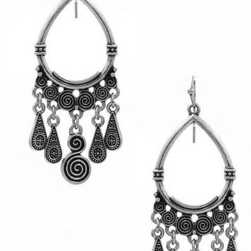 Metal Teardrop Earring