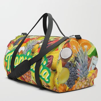 Tropicalia Fruits Duffle Bag by HYPNOTZD MUSIC