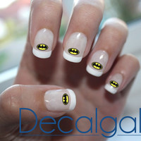 Batman Nail Art - Nail Art Decals - Waterslide Decals - Waterslide Paper