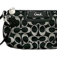 Coach Soho Signature Capacity Large Wristlet Clutch Bag Purse 45808 Black