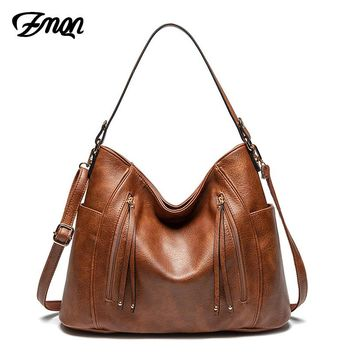 ZMQN Luxury Women Bag Handbags Women Famous Brand Messenger Bags Leather Designer Handbag 2019 Vintage Big Hobos Female Bag C665