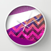 *** Galaxy 54  *** Colorblocking Wall Clock by Monika Strigel for your perfect girlsroom!