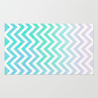 Fairy Dust Chevron Area & Throw Rug by M Studio