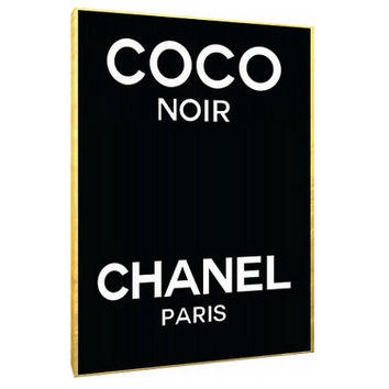 Coco Noir Chanel perfume label Canvas - Typography - Perfume Bottle - Wall Art - Print Poster - Modern Decor - Motivation - Chanel logo