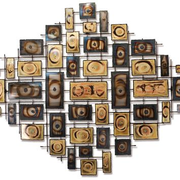 Symmetry Contemporary Wall Sculpture by Metal Perspectives
