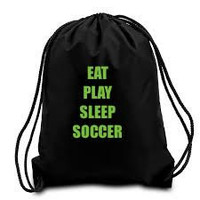 Eat Play Sleep... sport Bag... Custom drawstring bags are made to order... Perfect gift for any player or sport fan.