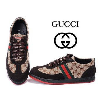 GUCCI Women Men Flats Sneakers Sport Shoes-8