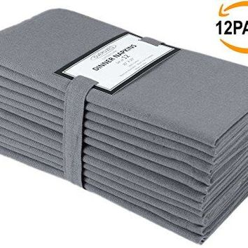 12 Pack Solid Dinner Napkins Oversized 20x20 Multi Colors 100 Cotton Cocktails Napkins Decorative Napkins Wedding Napkins Tailored with mitered corners amp generous hem Machine Washable