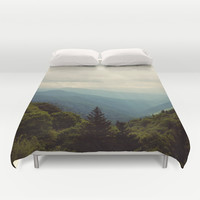 THE LIGHT THROUGH THE CLOUDS Duvet Cover by Erin Johnson