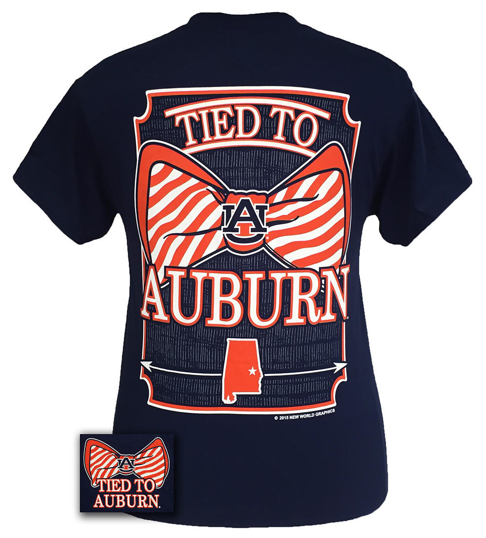 Auburn tigers war eagle tied to prep bow from simply cute tees for Auburn war eagle shirt
