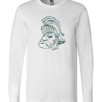 Official NCAA Michigan State University Spartans MSU Sparty Long Sleeve T-Shirt - 04MS-1-b