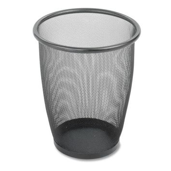 """Safco Products Company Steel Mesh Wastebasket, 5 Gallon, 13""""""""x14-1/2"""""""", Black Case Pack 2"""
