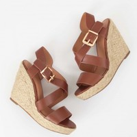 Altar'd State Criss Cross Jute Wedge | Altar'd State
