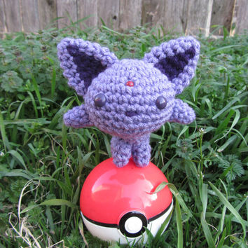 Made to Order - Crochet - Chibi Pokemon Amigurumi - Espeon