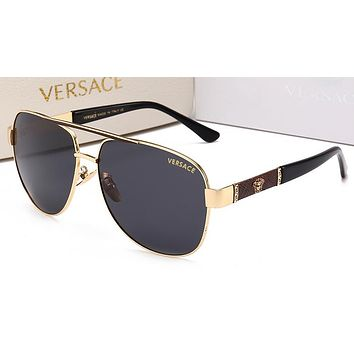 Versace Women Trending Popular Summer Sun Shades Eyeglasses Glasses Sunglasses Golden/Brown G-HWYMSH-YJ