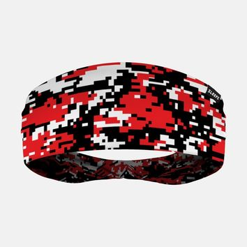 Digital Camo Red Headband