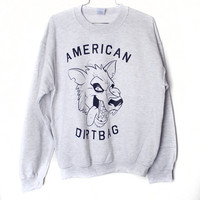 American Dirtbag Sweatshirt Ash Select Size by BurgerAndFriends