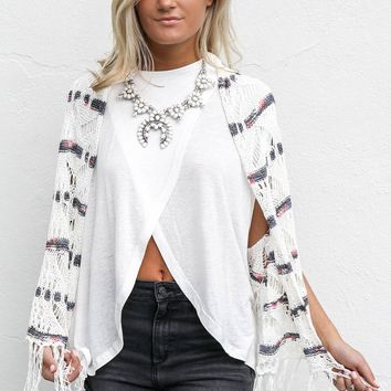 Back Home Oatmeal Cardigan Sweater