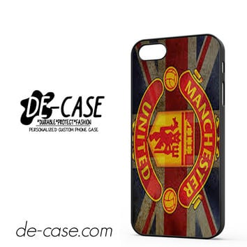 Manchester United Logo And Flag DEAL-6829 Apple Phonecase Cover For Iphone 5 / Iphone 5S