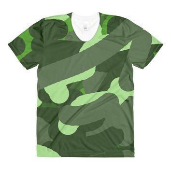 """Camouflage""Women's Crew Neck T-Shirt"