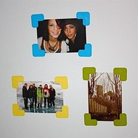 Stickr Corners - Includes 7 Sets - Peel N Stick Dorm Decor Wall Picture Frames college supplies dorm room decorations dorm stuff