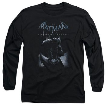 Batman Arkham Origins - Perched Cat Long Sleeve Adult 18/1