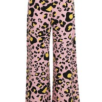Rosana Bright Animal Wide Leg Trouser | Boohoo