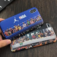 NBA AIR JORDAN Tide brand matte iphone8plus soft shell cover