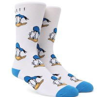 Neff Donald Crew Socks - Mens Socks - White - One