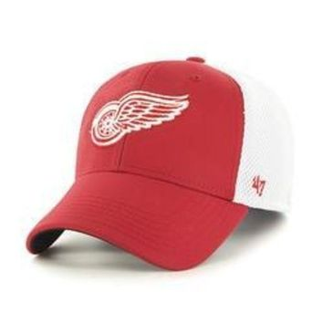 ONETOW NHL Detroit Red Wings Back Pedal Contender Stretch Fit Hat