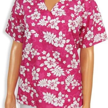Tropical Flowered Medical Scrub - Alii