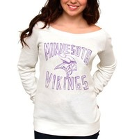 Minnesota Vikings Ladies Classic Off-The-Shoulder Sweatshirt - White