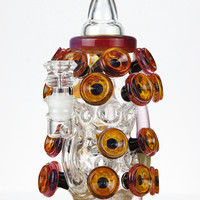 High Tech Glassworks x Lion Glass Satellite Cheese Bottle Collab