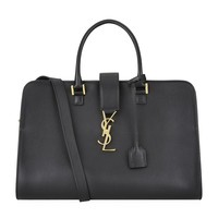 Saint Laurent Monogramme Cabas Bag in Black | Harrods