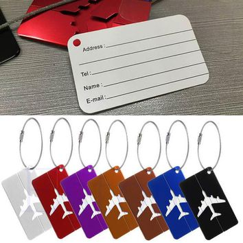 DCCKL72 New Aluminium Travel Luggage Baggage Tag Suitcase Identity Address Name Labels