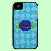 Cute Blueberry iPhone 4 Case from Zazzle.com