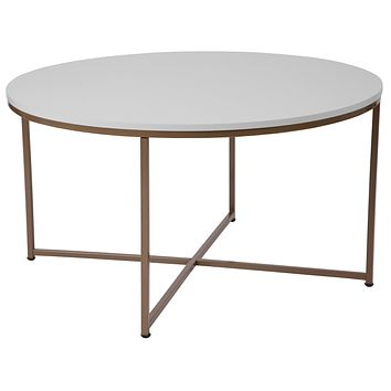 Hampstead Collection Coffee Table with Metal Frame