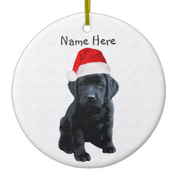 Black Lab Ornament - Black Lab Art 12 - Labrador Ornament - Lab Dog - Dog Christmas Ornament - Labrador Retriever - Lab Dog Keepsake