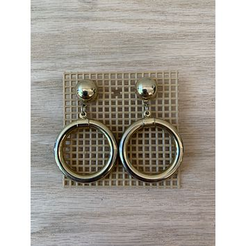 Vintage Brass Knocker Earrings