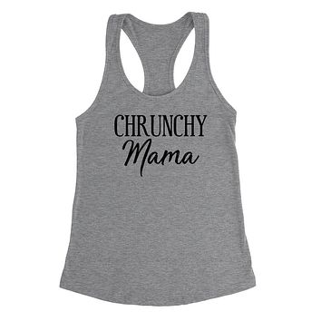 Crunchy mom tank, funny v neck shirt, gift for mom, mommy  Ladies Racerback Tank Top