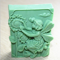 Sunflower Fairy 3D Silicone Mold Fondant Soap Candle Molds Chocolate Mould Cake Mold Alternative Measures
