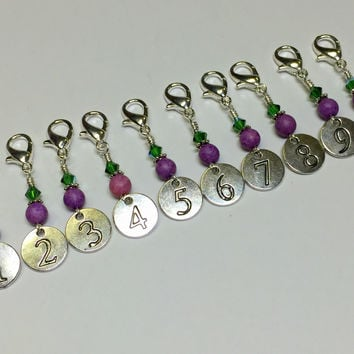 Numbered Clip On Stitch Marker Set