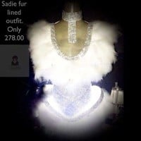 New Sadie White Feather LED Dress. Really Lights up! Macchar Cosplay Catalogue