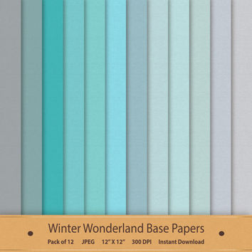 Winter Wonderland Base Papers Digital Scrapbook Background Textured Printable Icy Commercial Use Graphics Silver Blue Grey Gray Paper Pack