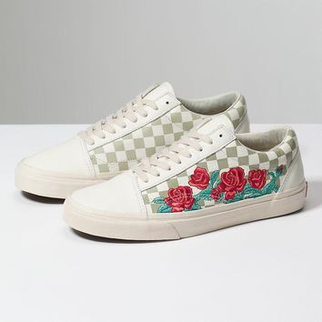 HCXX Vans ROSE EMBROIDERY OLD SKOOL DX - Marshmallow/Turtledove