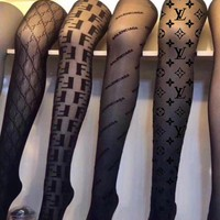 LV LOUIS VUITTON FENDI GUCCI Balenciaga Sock Panty-hose Classic Fashionable Women Sexy Louis Vuitton Sockings Long Socks