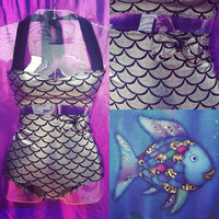 The rainbow fish mermaid suit (made to order)