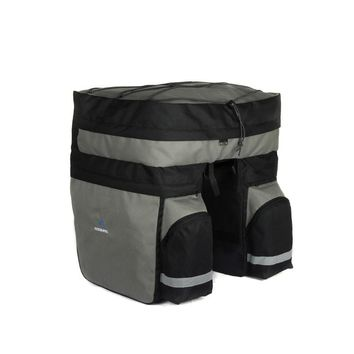 Good deal Roswheel 60L Cycling Bicycle Bag Bike Double Side Rear Rack Tail Seat Trunk Bag Pannier-Grey