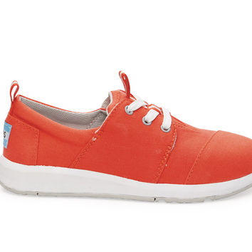 TOMS Fiesta Canvas Youth Del Rey Sneakers Red
